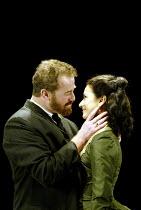 'IVANOV' (Chekhov/directed by Katie Mitchell)~Owen Teale (Nikolai Ivanov), Indira Varma (Sasha Lebedev)~Cottesloe Theatre / National Theatre, London SE1   16/09/2002