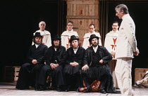 'THE JEW OF MALTA' (Marlowe - director: Barry Kyle),seated, right: Alun Armstrong (Barabas)   standing, right: John Carlisle (Ferneze),Royal Shakespeare Company / Swan Theatre     Stratford-upon-Avon...