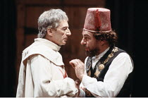 'THE JEW OF MALTA' (Marlowe - director: Barry Kyle),l-r: John Carlisle (Ferneze), Alun Armstrong (Barabas),Royal Shakespeare Company / Barbican Theatre, London EC2                       23/03/1988...