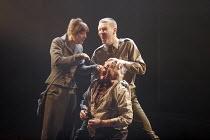 'LEAR' (Edward Bond - director: Jonathan Kent),the blinding of Warrington - l-r: Claudie Blakley (Bodice), Patrick Godfrey (Warrington), Sam Spruell (Soldier),Crucible Theatre / Sheffield, England...