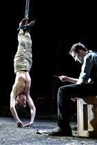 'THE LIEUTENANT OF INISHMORE' (McDonagh)~l-r: Paul Lloyd (James), Peter McDonald (Padraig)~Garrick Theatre, London WC2                26/06/2002