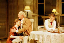 LONG DAY'S JOURNEY INTO NIGHT by Eugene O'Neill director: Robin Phillips  ~l-r: Jessica Lange (Mary Tyrone), Charles Dance (James Tyrone), Paul Nicholls (Edmund)~Lyric Theatre, London W1 21/11/2000~(c...