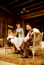 LONG DAY'S JOURNEY INTO NIGHT by Eugene O'Neill director: Robin Phillips  ~l-r: Paul Nicholls (Edmund), Jessica Lange (Mary Tyrone), Paul Rudd (James Junior)~Lyric Theatre, London W1 21/11/2000~(c) Do...