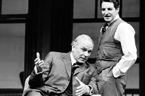 LONG DAY'S JOURNEY INTO NIGHT by Eugene O'Neill  design: Michael Annals  lighting: Robert Bryan  director: Michael Blakemore  ~l-r: Laurence Olivier (James Tyrone), Denis Quilley (Jamie / James Tyrone...