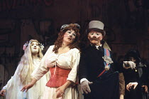 'LYSISTRATA' (Aristophanes, in a new version by Ranjit Bolt - director: Peter Hall),centre: Geraldine James (Lysistrata),Old Vic Theatre, London SE1                      15/06/1993                   ,
