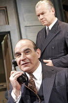 MAN AND BOY by Terence Rattigan - director: Maria Aitken ~l-r: David Suchet (Gregor Antonescu), David Yelland (Sven Johnson),Duchess Theatre, London WC2              07/02/2005        ,
