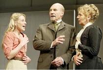 'THE MASTER BUILDER' (Ibsen - director: Anthony Page)~l-r: Lisa Dillon (Hilda Wangel), Patrick Stewart (Halvard Solness), Sue Johnston (Aline Solness)~Albery Theatre, London WC2                  18/06...