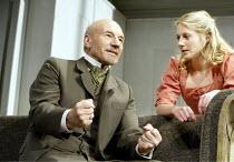 'THE MASTER BUILDER' (Ibsen - director: Anthony Page)~Patrick Stewart (Halvard Solness), Lisa Dillon (Hilda Wangel)~Albery Theatre, London WC2                  18/06/2003