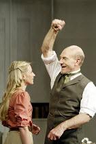 'THE MASTER BUILDER' (Ibsen - director: Anthony Page)~Lisa Dillon (Hilda Wangel), Patrick Stewart (Halvard Solness)~Albery Theatre, London WC2                  18/06/2003