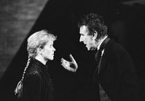'THE MASTER BUILDER' (Ibsen)~Geraldine Alexander (Kaja Fosli), John Wood (Halvard Solness)~Royal Shakespeare Company/Barbican Theatre      1989