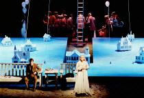 'THE MASTER BUILDER' (Ibsen)~Duncan Bell (Ragner Brovick), Joanne Pearce (Hilde Wangel)~Royal Shakespeare Company/Barbican Theatre      1989