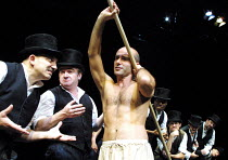 'MESSIAH - Scenes from a Crucifixion' (Berkoff)~centre: Finbar Lynch (Jesus)~Riverside Studios, London W6                 03/10/2001