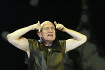 'MESSIAH - Scenes from a Crucifixion' (author/director: Steven Berkoff)~Steven Berkoff (Satan) ~The Old Vic, London SE1                        02/12/2003