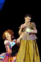 'MOTHER CLAP'S MOLLY HOUSE' (Ravenhill/Scott)~Deborah Findlay (Mrs Tull), Paul Ready (Martin, 'pregnant')~RNT/Lyttelton Theatre, London SE1   04/09/2001