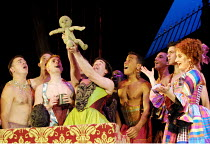 'MOTHER CLAP'S MOLLY HOUSE' (Ravenhill/Scott)~centre: Philips (William Osborne) 'delivers' Martin's 'baby'   right: Deborah Findlay (Mrs Tull)~RNT/Lyttelton Theatre, London SE1   04/09/2001