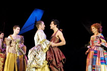 'MOTHER CLAP'S MOLLY HOUSE' (Ravenhill/Scott)~l-r: Paul Ready (Martin), Con O'Neill (Gabriel Lawrence), Dominic Cooper (Thomas), Deborah Findlay (Mrs Tull)~RNT/Lyttelton Theatre, London SE1   04/09/20...
