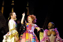 'MOTHER CLAP'S MOLLY HOUSE' (Ravenhill/Scott)~l-r: Con O'Neill (Gabriel Lawrence), Deborah Findlay (Mrs Tull), Ali Sichilongo~RNT/Lyttelton Theatre, London SE1   04/09/2001