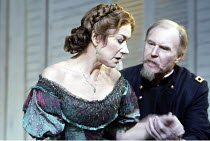 'MOURNING BECOMES ELECTRA' (O'Neill - director: Howard Davies)~Helen Mirren (Christine Mannon), Tim Pigott-Smith (Brigadier General Ezra Mannon)~Lyttelton Theatre / National Theatre, London SE1...