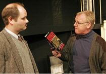 'MURDERER' (Anthony Shaffer - director: Adam Speers),l-r: George Potts (Sergeant Stenning), Les Dennis (Norman Bartholomew),Menier Chocolate Factory. London SE1                          17/11/2004,