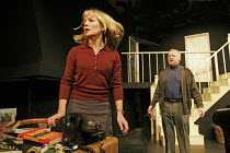 'MURDERER' (Anthony Shaffer - director: Adam Speers),Caroline Langrishe (Elizabeth Bartholomew), Les Dennis (Norman Bartholomew),Menier Chocolate Factory. London SE1                          17/11/200...