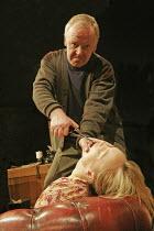 'MURDERER' (Anthony Shaffer - director: Adam Speers),Les Dennis (Norman Bartholomew). Lisa Kay (Millie),Menier Chocolate Factory. London SE1                          17/11/2004,