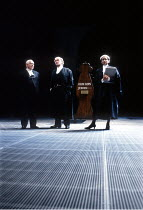 MURMURING JUDGES   by David Hare   design: Bob Crowley   lighting: Mark Henderson   director: Richard Eyre ~~l-r: Michael Bryant (Justice Cuddeford), Richard Pasco (Sir Peter Edgecombe QC), Alphonsia...