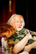 'KING LEAR' (Shakespeare)~Nancy Carroll (Cordelia), Oliver Ford-Davies (King Lear)~Almeida at King's Cross / London N1     12/02/2002