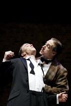 'KING LEAR' (Shakespeare: director - Declan Donnellan)~l-r: Adam Webb (Edmund), Ryan Kiggell (Earl of Gloucester)~RSC Academy Company 2002 / Swan Theatre, Stratford-upon-Avon                      10/2...