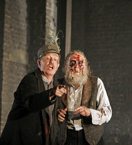 KING LEAR by Shakespeare  set design: Tom Piper  costumes: Kandis Cook  lighting: Tim Mitchell  fights: Malcolm Ranson  director: Bill Alexander <br>~l-r: Corin Redgrave (King Lear), David Hargreaves...