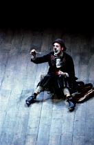 KING LEAR by Shakespeare design: Bob Crowley lighting: Brian Harris director: Adrian Noble ~~Antony Sher (Fool)~Royal Shakespeare Company (RSC), Royal Shakespeare Theatre, Stratford-upon-Avon, England...