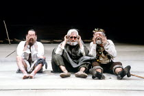 KING LEAR by Shakespeare  design: Bob Crowley  lighting: Brian Harris  fights: Malcolm Ranson  director: Adrian Noble <br>~l-r: Jonathan Hyde (Edgar), David Waller (Gloucester), Michael Gambon (Lear)~...