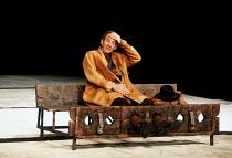 KING LEAR  by Shakespeare  design: Hildegard Bechtler  lighting: Jean Kalman  director: Deborah Warner <br>~Ian McKellen (Earl of Kent)~Lyttelton Theatre, National Theatre (NT), London SE1  26/07/1990...