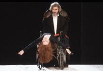 KING LEAR by Shakespeare  design: Hildegard Bechtler  lighting: Jean Kalman  director: Deborah Warner <br>~V/iii: Eve Matheson (Cordelia), Brian Cox (King Lear) ~Lyttelton Theatre, National Theatre (N...