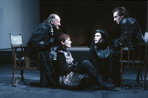 'KING LEAR' (Shakespeare),l-r: Paul Webster (Duke of Albany), Estelle Kohler (Goneril), Sally Dexter (Regan), Ralph Fiennes (Edmond),RSC/RST, Stratford-upon-Avon  1990,