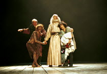KING LEAR  by Shakespeare  set design: Yukio Horio  costumes: Lily Komine  lighting: Tamotsu Harada  fights: Masahiro Kunii  movement: Suketaro Hanayagi  director: Yukio Ninagawa <br>~l-r: Christopher...