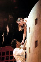 ROMEO AND JULIET  by Shakespeare  design: Robert Innes Hopkins  lighting: Paule Constable  fights: Malcolm Ranson  movement: Jane Gibson  director: Tim Supple ~Chiwetel Ejiofor (Romeo), Charlotte Rand...