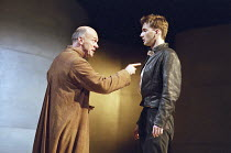 ROMEO AND JULIET by Shakespeare  music: Stephen Warbeck  design: Tom Piper  lighting: Chris Davey  fights: Terry King   movement: Liz Ranken  director: Michael Boyd ~l-r: Des McAleer (Friar Lawrence),...