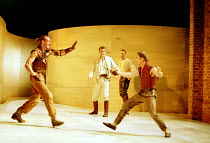 ROMEO AND JULIET by Shakespeare  music: Stephen Warbeck  design: Tom Piper  lighting: Chris Davey  fights: Terry King   movement: Liz Ranken  director: Michael Boyd ~left: Keith Dunphy (Tybalt)   cent...
