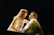 ROMEO AND JULIET by Shakespeare  music: Stephen Warbeck  design: Tom Piper  lighting: Chris Davey  fights: Terry King   movement: Liz Ranken  director: Michael Boyd ~the morning after, about to part:...