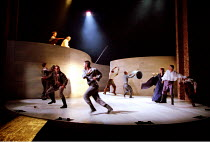 ROMEO AND JULIET by Shakespeare  music: Stephen Warbeck  design: Tom Piper  lighting: Chris Davey  fights: Terry King   movement: Liz Ranken  director: Michael Boyd ~street disturbance in Verona~Royal...