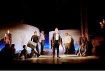 ROMEO AND JULIET by Shakespeare  music: Stephen Warbeck  design: Tom Piper  lighting: Chris Davey  fights: Terry King   movement: Liz Ranken  director: Michael Boyd ~Romeo (centre, David Tennant) help...