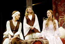 'ROMEO AND JULIET' (Shakespeare)~l-r: Una Stubbs (Nurse), Victoria Carling (Lady Capulet), Emily Blunt (Juliet)~Chichester Festival Theatre, W.Sussex    27/08/2002