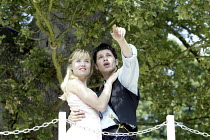 'ROMEO AND JULIET' (Shakespeare - director: Abigail Anderson)~Elaine Symons (Juliet), Jamie Harding (Romeo)~Creation Theatre Company / Open Air Theatre, Headington Hill Park   Oxford               03/...