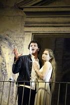 ROMEO AND JULIET  by Shakespeare  set design: Simon Daw  costumes: Deirdre Clancy  lighting: Hartley T A Kemp  fights: Terry King  director: Peter Gill ~Matthew Rhys (Romeo), Sian Brooke (Juliet)~Roya...