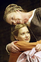 ROMEO AND JULIET  by Shakespeare  set design: Simon Daw  costumes: Deirdre Clancy  lighting: Hartley T A Kemp  fights: Terry King  director: Peter Gill ~Sian Brooke (Juliet), June Watson (Nurse)~Royal...