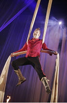 ROMEO AND JULIET by Shakespeare  set design: Borkur Jonsson  costumes: Thorunn E. Sveinsdottir  lighting: Tim Mitchell  director: Gisli Orn Gardarsson ~Gotti Sigurdarson (Tybalt)~a Vesturport & Young...