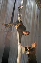 ROMEO AND JULIET by Shakespeare  set design: Borkur Jonsson  costumes: Thorunn E. Sveinsdottir  lighting: Tim Mitchell  director: Gisli Orn Gardarsson ~centre: Gisli Orn Gardarsson (Romeo)   right: Ar...