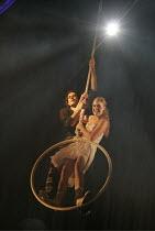 ROMEO AND JULIET by Shakespeare  set design: Borkur Jonsson  costumes: Thorunn E. Sveinsdottir  lighting: Tim Mitchell  director: Gisli Orn Gardarsson ~Gisli Orn Gardarsson (Romeo), Nina Dogg Filippus...