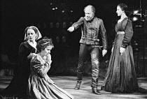 ROMEO AND JULIET by Shakespeare set design: Bob Crowley costumes: Priscilla Truett lighting: Brian Harris fights: Malcolm Ranson  director: John Caird ~l-r: Polly James (Nurse), Amanda Root (Juliet),...