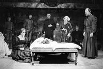 ROMEO AND JULIET by Shakespeare set design: Bob Crowley costumes: Priscilla Truett lighting: Brian Harris fights: Malcolm Ranson  director: John Caird ~tomb scene - left: Penny Downie (Lady Capulet)...